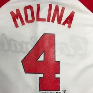 competitive price 06f85 98804 Boys Youth St Louis Cardinals Yadier Molina Jersey